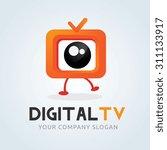 digital tv tv broadcast logo... | Shutterstock .eps vector #311133917