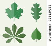 leaves in flat style | Shutterstock .eps vector #311139353