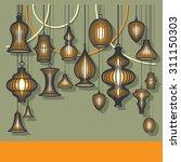 lantern background vector | Shutterstock .eps vector #311150303