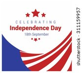 vector chile independence day... | Shutterstock .eps vector #311159957