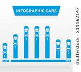 info graphic cars. marketing... | Shutterstock .eps vector #311162147