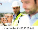 view of an attractive worker on ... | Shutterstock . vector #311175947
