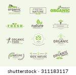 set of organic product  ...