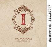 monogram design elements ... | Shutterstock .eps vector #311183747