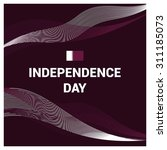vector qatar independence day... | Shutterstock .eps vector #311185073