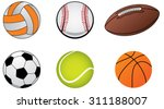 illustrations of sports ball... | Shutterstock .eps vector #311188007