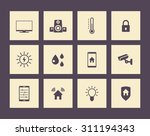 smart house icons pack  vector...