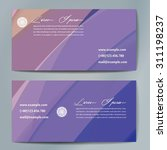 stylish business cards with... | Shutterstock .eps vector #311198237