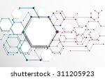 vector abstract futuristic....   Shutterstock .eps vector #311205923
