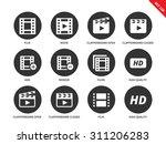 video vector icons set. film... | Shutterstock .eps vector #311206283