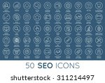 set of vector seo search engine ... | Shutterstock .eps vector #311214497