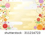 cute japanese pattern new year... | Shutterstock .eps vector #311216723