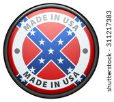 made in usa  confederate flag  | Shutterstock .eps vector #311217383