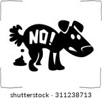 no dog pooping sign | Shutterstock .eps vector #311238713