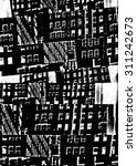 monochrome collage of fragments ... | Shutterstock . vector #311242673
