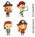 cartoon pirates | Shutterstock .eps vector #311246903