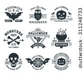typography halloween vector... | Shutterstock .eps vector #311248733