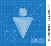 vector blueprint man icon .... | Shutterstock .eps vector #311255747