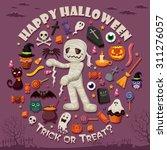 vintage halloween poster design ... | Shutterstock .eps vector #311276057