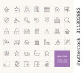 real estate outline icons for... | Shutterstock .eps vector #311302883
