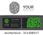 fingerprint logo template icon... | Shutterstock .eps vector #311308517