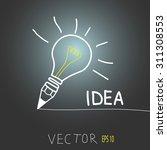 lamp. an idea creative... | Shutterstock .eps vector #311308553