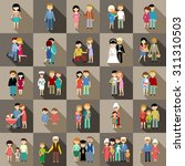 the big set of family life in... | Shutterstock .eps vector #311310503
