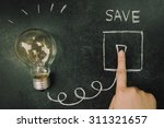 turn on light bulb | Shutterstock . vector #311321657