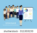 business seminar with managers... | Shutterstock .eps vector #311333153
