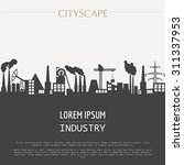 cityscape graphic template.... | Shutterstock .eps vector #311337953