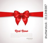 gift card design with red bow... | Shutterstock .eps vector #311348387