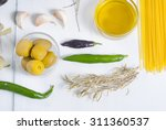 italian food ingredients on... | Shutterstock . vector #311360537