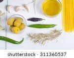 italian food ingredients on... | Shutterstock . vector #311360537