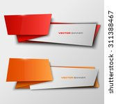 origami paper infographic...   Shutterstock .eps vector #311388467