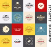 vintage frames  labels. travel... | Shutterstock .eps vector #311391263
