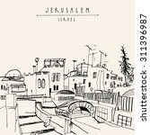 jerusalem  israel  middle east. ... | Shutterstock .eps vector #311396987