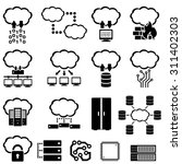 big data  technology and cloud... | Shutterstock .eps vector #311402303