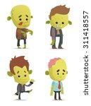 cartoon zombies | Shutterstock .eps vector #311418557