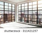empty white modern interior   Shutterstock . vector #311421257