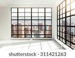 empty white loft interior | Shutterstock . vector #311421263