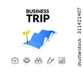 business trip tour concept logo ... | Shutterstock .eps vector #311421407