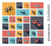 flat concept design with shadow ... | Shutterstock .eps vector #311429453