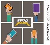 byod digital design  vector... | Shutterstock .eps vector #311437937