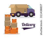delivery digital design  vector ... | Shutterstock .eps vector #311438837