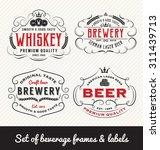 classic vintage beverage frame... | Shutterstock .eps vector #311439713