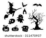 halloween silhouettes | Shutterstock .eps vector #311470937
