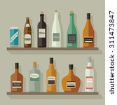 icons of alcoholic beverages on ... | Shutterstock .eps vector #311473847