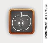apple doodle | Shutterstock .eps vector #311476013