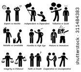 positive vs negative character... | Shutterstock .eps vector #311484383