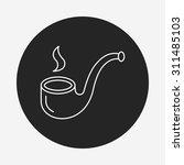 tobacco pipe line icon | Shutterstock .eps vector #311485103